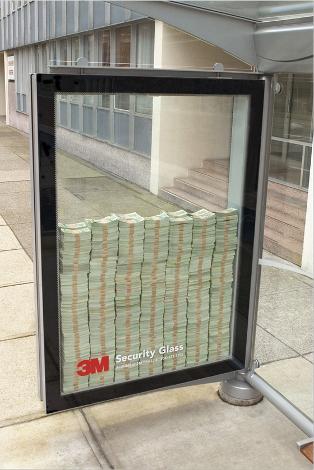 publicité pour le verre de sécurité